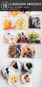 Put together smoothie packs for ea - 125 Freezer Smoothie Pack Recipes - RecipePin.com