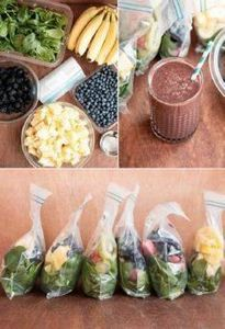 Healthy Green Smoothies | HelloGlo - 125 Freezer Smoothie Pack Recipes - RecipePin.com
