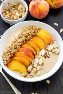 Peach Pie Smoothie Bowl - A thick, - 125 Freezer Smoothie Pack Recipes - RecipePin.com