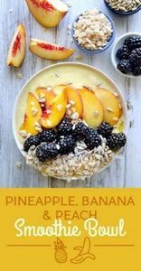 Pineapple, Banana, and Peach Smoot - 125 Freezer Smoothie Pack Recipes - RecipePin.com