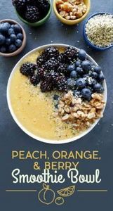 Peach, Orange, and Berry Smoothie  - 125 Freezer Smoothie Pack Recipes - RecipePin.com