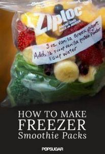 Your morning smoothie habit just g - 125 Freezer Smoothie Pack Recipes - RecipePin.com