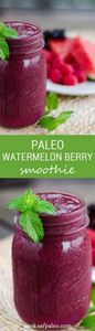 This paleo watermelon berry smooth - 125 Freezer Smoothie Pack Recipes - RecipePin.com