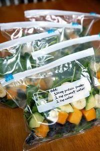 Just grab one of these prepped smo - 125 Freezer Smoothie Pack Recipes - RecipePin.com