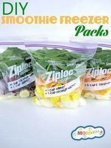 These smoothie freezer packs show  - 125 Freezer Smoothie Pack Recipes - RecipePin.com