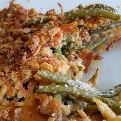 Grandma's Green Bean Casserole |  This recipe is much better than the standard mushroom soup and French fried onion version. - 195 Green Bean Recipes - RecipePin.com