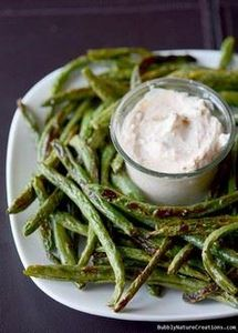 Roasted Green Bean Fries with Crea - 195 Green Bean Recipes - RecipePin.com