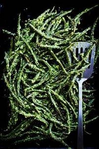 Roasted #greenbeans with vinegary  - 195 Green Bean Recipes - RecipePin.com