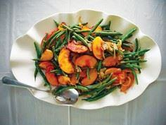 Green Bean Salad with Peaches and  - 195 Green Bean Recipes - RecipePin.com