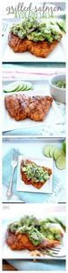 Grilled Salmon with Avocado Salsa. - 290 Grilling Recipes - RecipePin.com