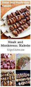Steak and Mushroom Kabobs are perf - 290 Grilling Recipes - RecipePin.com