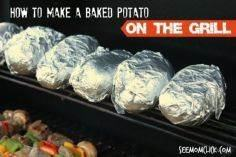 How to Make a Baked Potato On the  - 290 Grilling Recipes - RecipePin.com