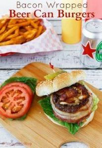 Bacon Wrapped Beer Can Burgers | S - 290 Grilling Recipes - RecipePin.com