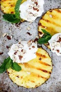 Grilled Pineapple with Coconut-Whi - 290 Grilling Recipes - RecipePin.com