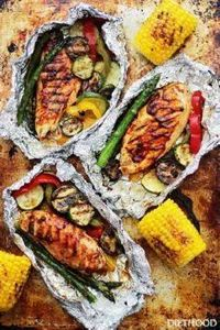 Grilled Barbecue Chicken and Veget - 290 Grilling Recipes - RecipePin.com