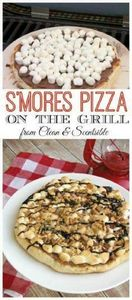 S'mores Pizza - Done up on the gri - 290 Grilling Recipes - RecipePin.com