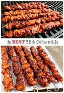 The Best BBQ Chicken Kebabs - 290 Grilling Recipes - RecipePin.com