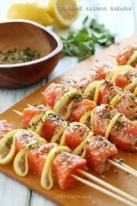 Grilled Salmon Kebabs – SO go - 290 Grilling Recipes - RecipePin.com