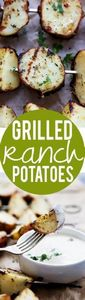 3-Ingredient Grilled Ranch Potatoe - 290 Grilling Recipes - RecipePin.com