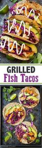 Grilled Fish Tacos with Lime Cabba - 290 Grilling Recipes - RecipePin.com