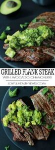 Juicy Grilled Flank Steak topped w - 290 Grilling Recipes - RecipePin.com