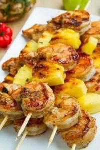 Grilled Jerk Shrimp and Pineapple  - 290 Grilling Recipes - RecipePin.com