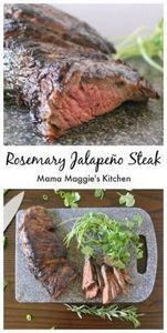 Rosemary Jalapeno Steak - Flavorfu - 290 Grilling Recipes - RecipePin.com