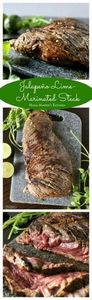 Jalapeño Lime Marinated Steak is j - 290 Grilling Recipes - RecipePin.com