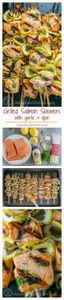 Easy grilled salmon skewers with g - 290 Grilling Recipes - RecipePin.com