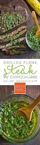 Grilled Flank Steak with Chimichur - 290 Grilling Recipes - RecipePin.com