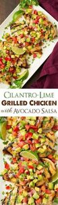 Grilled Cilantro Lime Chicken with - 290 Grilling Recipes - RecipePin.com