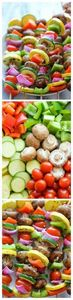 Vegetable Kabobs - These marinated - 290 Grilling Recipes - RecipePin.com