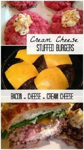 Cream Cheese Stuffed Burgers. Thes - 290 Grilling Recipes - RecipePin.com
