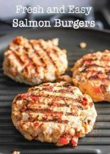 Fresh and Easy Salmon Burgers! Coo - 290 Grilling Recipes - RecipePin.com