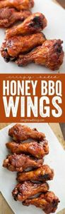 These Crispy Baked Honey BBQ Wings - 290 Grilling Recipes - RecipePin.com