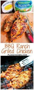 BBQ Ranch Grilled Chicken - only 3 - 290 Grilling Recipes - RecipePin.com