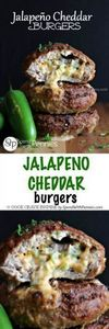 Jalapeno Cheddar Burgers! These ar - 290 Grilling Recipes - RecipePin.com