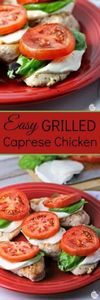 Easy Grilled Caprese Chicken | by  - 290 Grilling Recipes - RecipePin.com