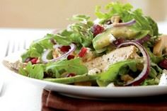 Grilled Chicken Salad with Cranber - 195 Healthy Chicken Recipes - RecipePin.com