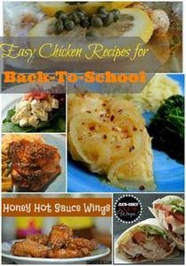 Easy Chicken Recipes for Back-to-S - 195 Healthy Chicken Recipes - RecipePin.com
