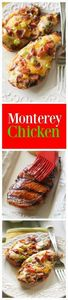 Monterey Chicken - topped with bbq - 195 Healthy Chicken Recipes - RecipePin.com
