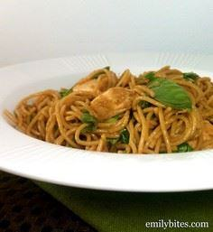 Spicy Sesame Noodles with Chicken. - 195 Healthy Chicken Recipes - RecipePin.com