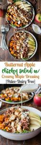 Paleo Roasted Butternut Apple Chic - 195 Healthy Chicken Recipes - RecipePin.com