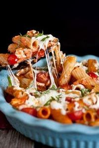 Grilled Chicken Caprese Pasta with - 195 Healthy Chicken Recipes - RecipePin.com