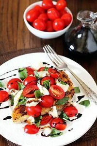 Chicken Caprese -- made easy with  - 195 Healthy Chicken Recipes - RecipePin.com