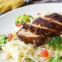 Blackened Chicken with Creamy Ange - 195 Healthy Chicken Recipes - RecipePin.com