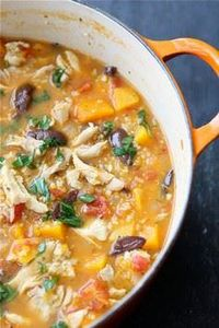 Hearty Chicken Stew with Butternut - 195 Healthy Chicken Recipes - RecipePin.com