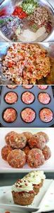 Meatloaf Cupcakes | Recipe By Phot - 195 Healthy Chicken Recipes - RecipePin.com