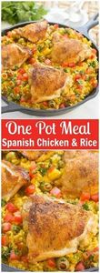 Spanish Chicken with Rice - Also k - 195 Healthy Chicken Recipes - RecipePin.com