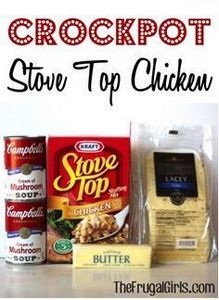 Frugal Girls Crockpot Stove Top Ch - 195 Healthy Chicken Recipes - RecipePin.com